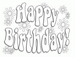 happy birthday coloring page ngbasic com