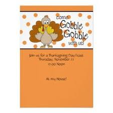 thanksgiving invitation for dinner gobble til you wobble