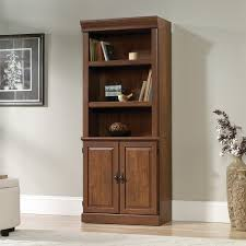 Library Bookcase With Glass Doors by Furniture Home Brown Wooden Book Cabinet With Sliding Glass Door