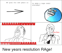Make A Meme Comic - my goal for new years is to make a rage comic everyday