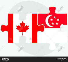 canada singapore flags vector u0026 photo bigstock