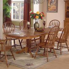 oak dining room set dining room table and chairs