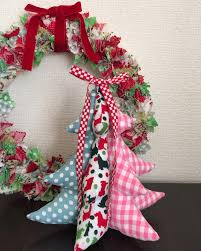 sewing fabric stuffed christmas tree tutorial 彡布