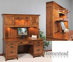 Executive Desk With Hutch Custom Built Hardwood Furniture By Homestead Furniture Made In Usa