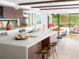 a white and wood kitchen remodel hgtv