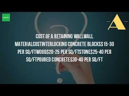 Retaining Wall Calculator And Price How Much Does It Cost To Build A Retaining Wall Youtube