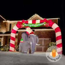 inflatable archway candy cane giant airblown christmas outdoor