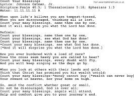 Count Your Blessings Lyrics And Chords Blessings Lyrics Bioinformatics R D