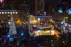 christmas lights san francisco union square christmas tree lighting 2017 union square shopping