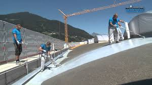 R S Roofing by Soprema Alsan Rs Spritzapplikation Youtube