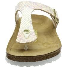 Birkenstock Beds by Birkenstock Gizeh Shiny Snake Cream Birko Flor Flat Sandals Yakelo