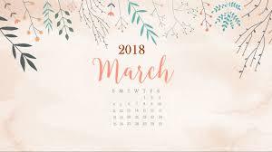 floral march 2018 calendar max calendars