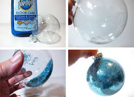 Glitter Christmas Ball Ornaments by Diy Frozen Christmas Ornaments Two Sisters Crafting