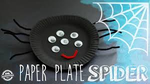 easy paper plate craft make a spider youtube