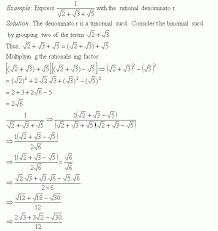 rationalize the denominator iv high mathematics