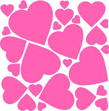 vinyl wall art heart decals wall accents stickers sheet of hearts
