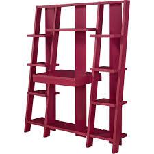 Bookcase With Ladder by Ameriwood Home Gradient Ladder Desk Bookcase Espresso Ebay