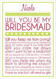 bridesmaid card wording bridesmaid card 10 00 via etsy wedding ideas