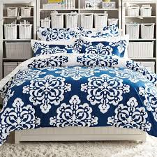 Duvet Covers Teal Blue Ikat Medallion Duvet Cover Sham Pbteen