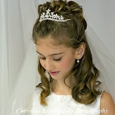 cute hairstyles for first communion pictures on first communion hairstyles with veil cute