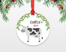 cow ornament etsy