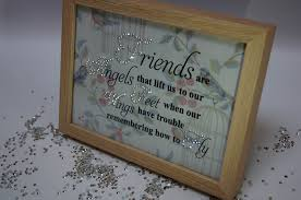 Angels Home Decor by Friends Are Angels V2 Sparkle Word Art Pictures Quotes Sayings
