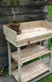 Plant Bench Plans - diy potting bench made with pallets 101 pallets