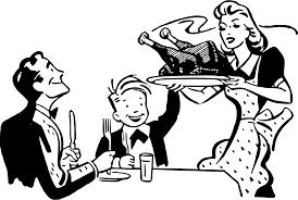 clipart turkey dinner