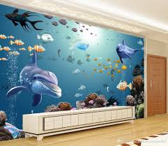 3d stereo underwater world aquarium tropical fish tv wall mural 3d material non woven size please tell me wide and high we will produce for your size if you have any question and idea please let me know many thanks