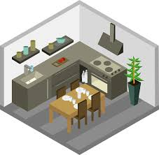 home kitchen furniture kitchen furniture house free vector graphic on pixabay