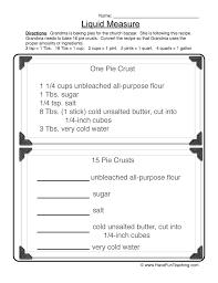 Gallon Worksheet Capacity Worksheets Teaching