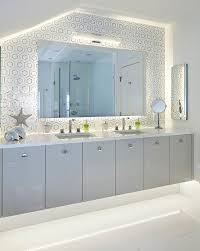 Floating Bathroom Vanity by Gray Lacquered Floating Bath Vanity Cabinets With His And Hers