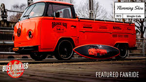 volkswagen custom flemming skou custom 1973 single cab vw bus junkies
