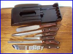 retro cutco kitchen knife set u0026 bakelite rack mid century modern