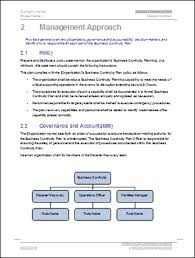 example business continuity plan template business continuity plan