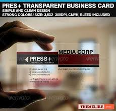 Translucent Plastic Business Cards Graphicriver Prepped 4 Print Translucent Plastic Business Card