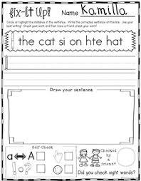 fix it up sentences for grammar sight words u0026 handwriting by
