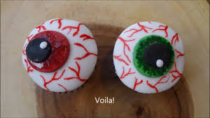 simple halloween cupcake decorations eyeballs youtube