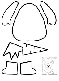 easter bunny printable templates u2013 happy easter 2017