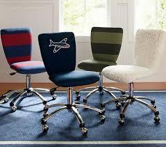 Kid Desk Chair Brown Wooden Scoop Desk Chair