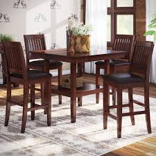 high table with four chairs high top dining table incredible loon peak chippewa 5 piece counter