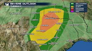 Weather Map Texas Huge Hail Recorded In Texas Oklahoma Weathernation