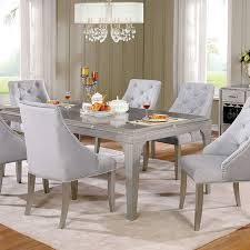 Silver Dining Chairs Diocles Silver Dining Set