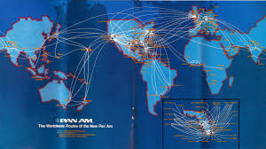 Allegiant Air Route Map by Pan Am Route Map 1980 Airline Route Maps Pinterest