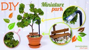 diy miniature park in a flower pot how to make miniature tree
