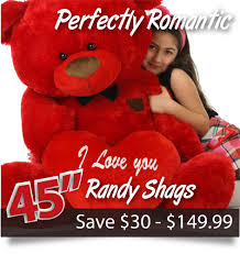 teddy valentines day adorable s day teddy bears 2 6ft