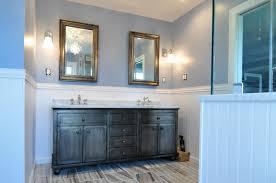 Stone Floor Bathroom - sophisticated high end suburban bathroom in yardley pa