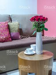 living room interior design with flower vase home decoration