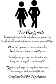 Wedding Guest Bathroom Basket Private Wedding Thoughts Signs And Other Randomness That Will Be