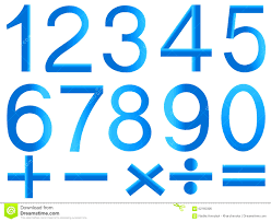 symbols beautiful numbers and symbols mathematics stock vector